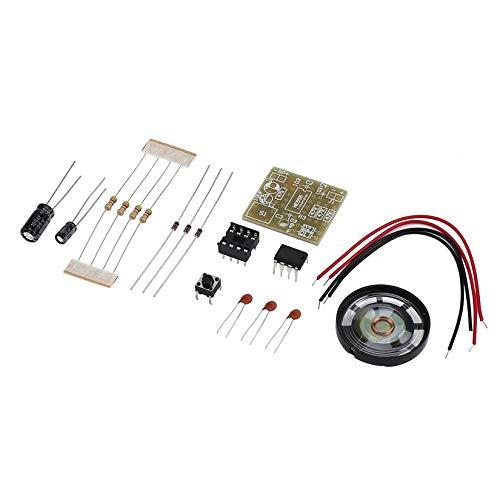ZengBuks Türklingel Suite elektronische Produktion Türklingel Suite DIY Kit NE555 einfach zu installieren ideal für Ihr Zuhause Sicherheit - schwarz