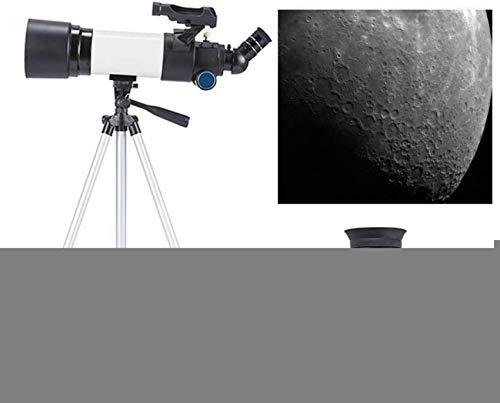 HZWLF Telescopio astronómico para Principiantes, telescopio catadióptrico para niños de 80 mm, telescopio monocular para Cielo para niños, Refractor