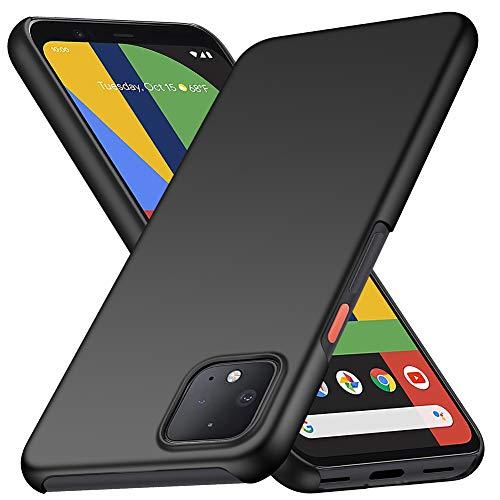 YIIWAY Funda Google Pixel 4, Ultra Slim Protectora Case Duro Funda Cover para Google Pixel 4 - Negro YW40811