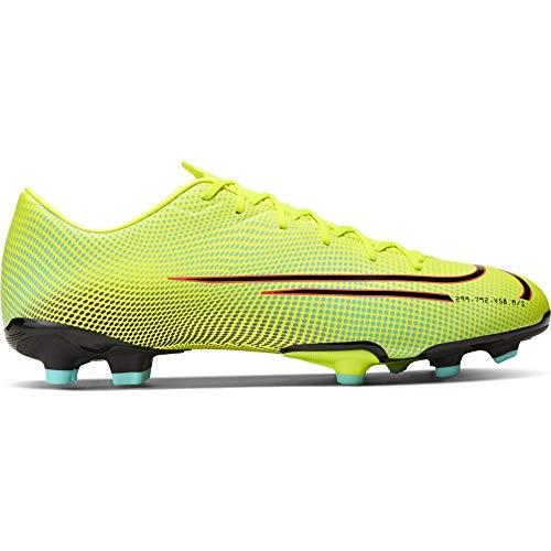 Nike Vapor 13 Academy MDS, Zapatillas de fútbol Unisex niños, Lemon Venom Black Aurora-Botas de esquí, Color Verde y Negro, 28 EU