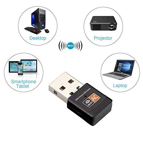 Gaddrt 600 Mbps Dual Band 2,4/5 GHz Wireless USB WiFi Netzwerkadapter LAN-Karte 802.11AC drahtloser Adapter Repeater
