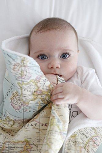 Arrullo bebé Recien Nacido. Toquilla o Manta para Hospital de 70x90 para arrullar al Bebe. Mantita Ideal para Entretiempo. Swaddle (Mapamundi)