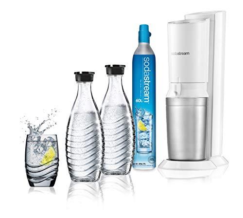 SodaStream 2270116 Crystal Wassersprudler, Edelstahl, Weiß