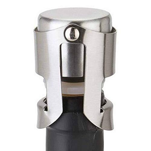 Wenjie 1 Stück Edelstahl Home Bar Wine Collection Rotwein Champagner Sekt Schnaps Flasche Sealer Küchenzubehör - Silber