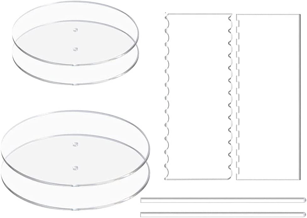 SANGHAI 1 Set Acrylic Round Discs Buttercream Deco Max 70% OFF Detroit Mall Cake