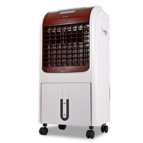Ventilateur de climatisation à télécommande, chauffage et refroidissement Ventilateur de tour multifonction à double fonction, blanc (Color : White)