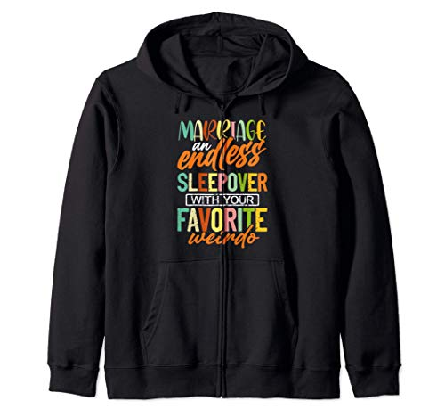 Wedding Anniversary Gift for Her Marriage Endless Sleepover Sudadera con Capucha