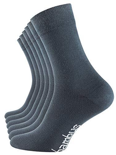 Vincent Creation 6 Paar Bambus Socken, Unisex Bambussocken für Damen und Herren, Handgekettelte Spitze (43-46, 6 Paar - Stargazer)