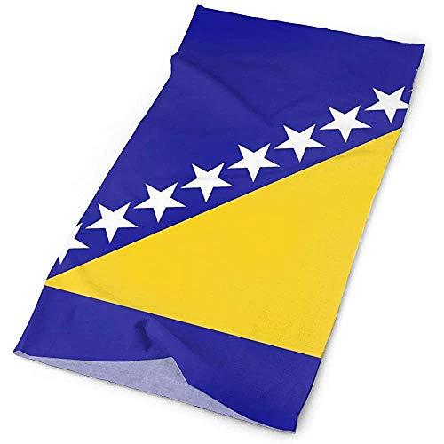 Bosnien und Herzegowina Flagge Headwrap Kopfbedeckung Stirnband Halstuch Mikrofaser Haarband Bandana Casual Headdress Neck Gaiter
