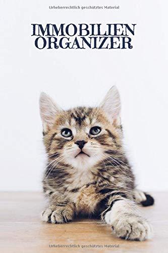 Immobilienorganizer: Journal für Skizzen Ideen Berechnungen mit Terminkalender | Motiv: Süße Katze
