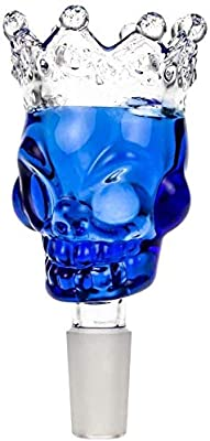 """4.5/"""" INCH TOBACCO  2 For $12 Smoking Herb bowl Center Grip Glass Hand Pipe"""