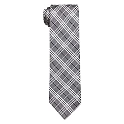 Barata Formal ties For Men,Grey Checks Woven tie.
