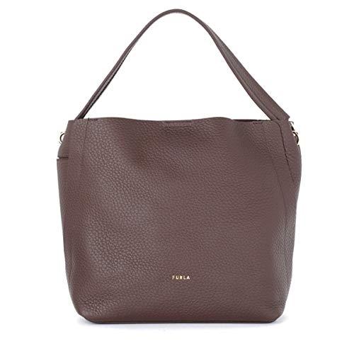 Furla Grace M Handbag in Calfskin Brown