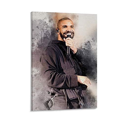 Poster su tela con stampa artistica su tela, raffigurante Aubrey Drake Graham, raffigurante la stella della famiglia, 30 x 45 cm