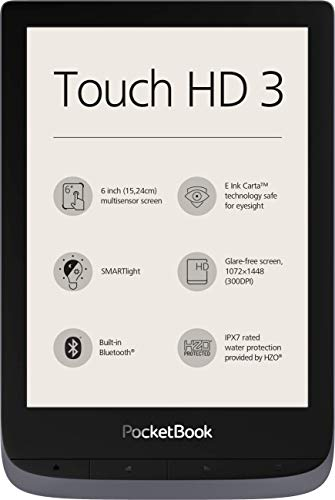PocketBook e-Book Reader 'Touch HD 3' (16 GB Memory, 15.24 cm (6 Inch)...
