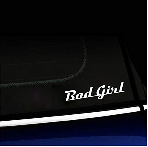 Yangjingkai 2 stks grap slecht meisje auto raam Sticker Decal wit Vinyl 15Cm*3.4Cm