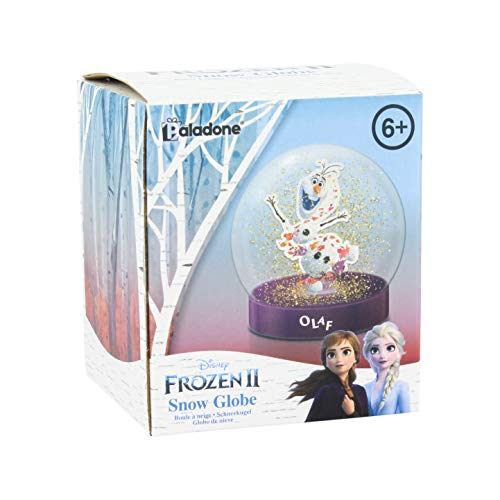 Disney 2 Schneekugel für Kinder & Fans jeden Alters, Aufwachen jeden Morgen, um die Frozen Magie zu erlernen, Paladone offiziell Lizenziertes Sammlerstück, Mehrfarbig, 8 x 8 x 9 cm
