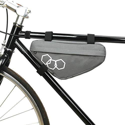 lilico Fahrradtasche aus Polyester, wasserdicht, für Mountainbikes, Triangeltasche, Vorderrohrrahmen, Fahrradtasche