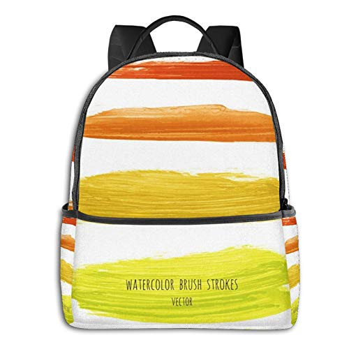 School Backpack for Men Women Teenager Daypack Fit 15.6 Inch Laptop Satchels Rucksack, Chartreuse Mustard Gradient Casual Travel Backpack