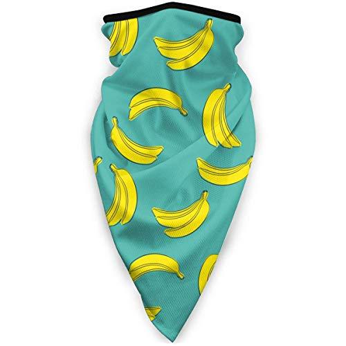 ENZOOIHUI Bananen auf dem blauen Muster Gesichtsmaske Bandanas für Männer Frauen, Winddichte Kopfbedeckungen für draußen, Sport