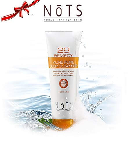 Nots 28 Remedy Acne Pore Deep Facial Cleanser - Acne Treatment For Face With Salicylic Acid + Clear Blemishes + Effectively Reduce Excess Sebum, 4.1Oz