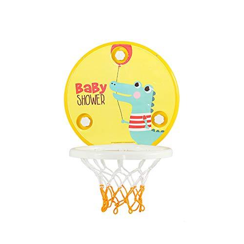 ZXCVB Aro de baloncesto para niños, aro de baloncesto portátil de perforación gratuito para niños bebé interior y exterior Juguetes de baloncesto cocodrilo