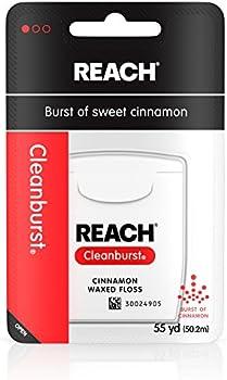 6-Pack 55-Yards Reach Cleanburst Waxed Dental Floss