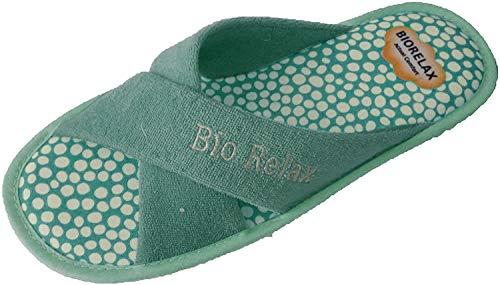 Zapatillas de Estar por casa/De Mujer/Biorelax/Verano/Mod. Rizo Tiras Cruzadas/Color...