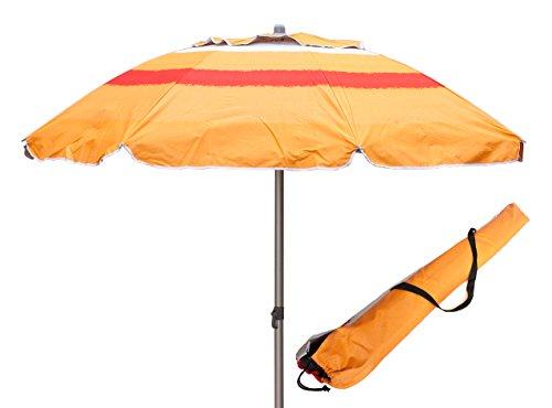 ombrellone da spiaggia trivella Ombrellone in Allumino Spiaggia Mare con Camino Anti-Vento Ultra Leggero PANAREA - ARANCIONE