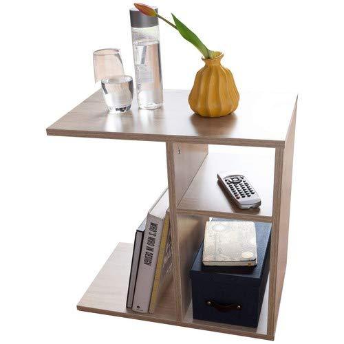 Wohnling Milo Bijzettafel, 50 x 50 x 30 cm, hout, Sonoma design, bijzettafel, sofa, moderne salontafel, kleine woonkamertafel, hoekig, hoge salontafel, smalle tafel woonkamer, 50 x 50 x 30 cm