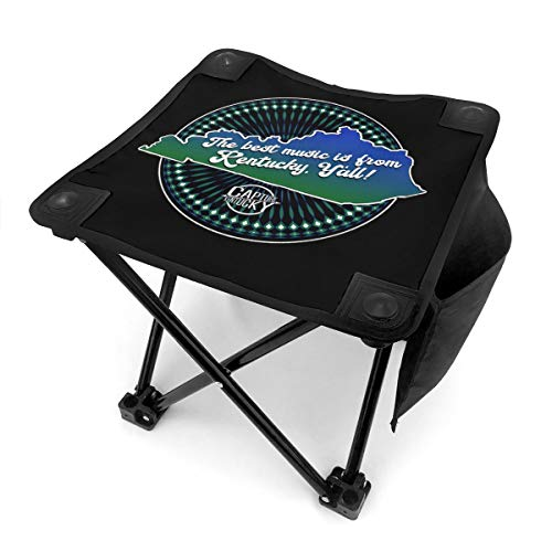 TANGQIAN The Best Music is from Kentucky, Y'all! Small Camping Stool, Fishing Travel Outdoor Folding Stool, Portable Stool for Camping Walking Hunting Hiking Picnic Garden BBQ
