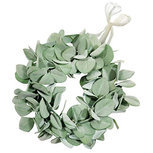 Techting Artificial Leaves Garland Lamb Ear Simulation Flower Garland Wedding Artificial Leaves Garland Cloth Fake Wedding Foliage, Small
