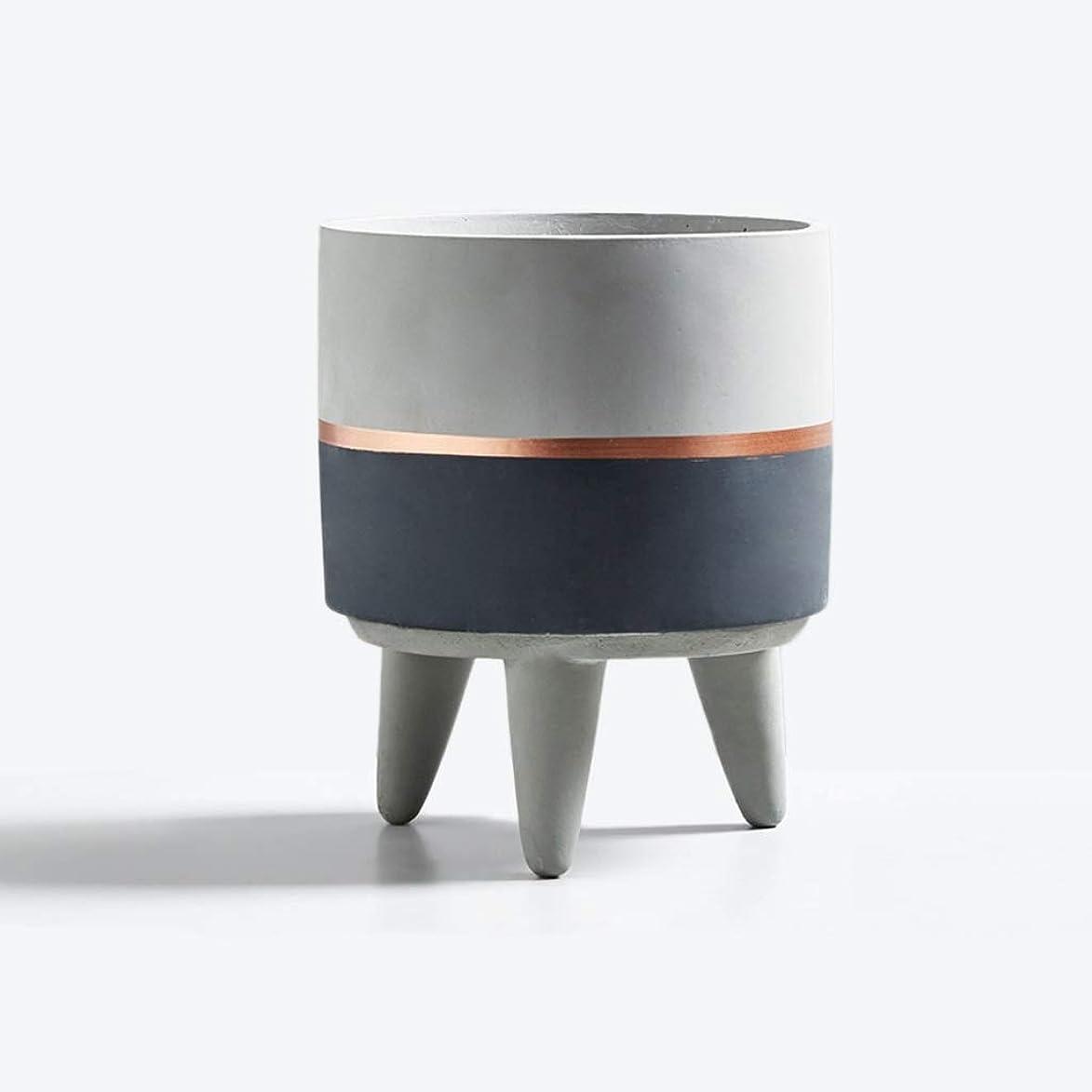 シェフ咲く想像する三角ブラケットフラワーポット、ボールオーキッドローズセメントフラワーポット手作り適しシーン複数シーン一致 (Color : Gray, Size : 13*13*10CM)