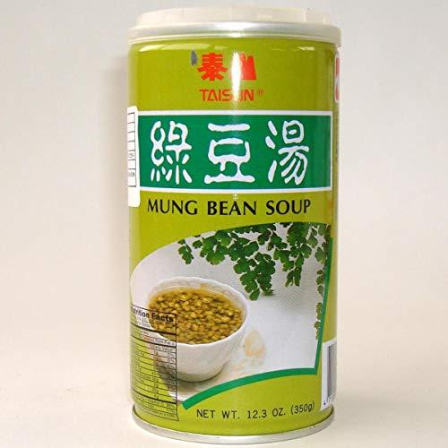 泰山緑豆湯【24缶セット】 緑豆スープ(粒入り) 健康デザート台湾お土産 ソフトドリンク 350g×24