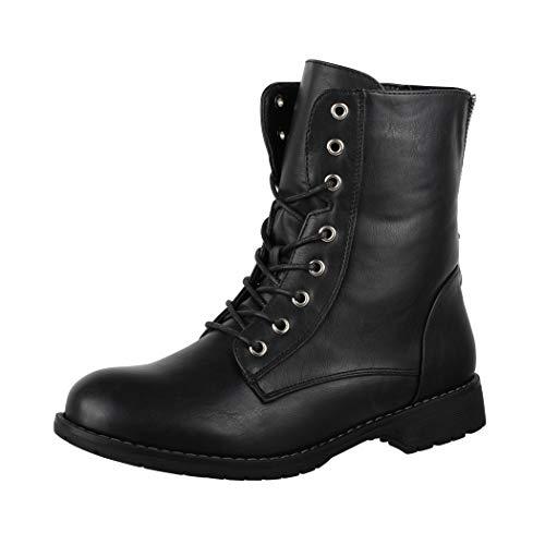 Elara Damen Worker Boots Chunkyrayan KA16-22SL-Schwarz-39