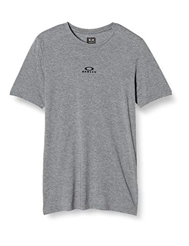 Oakley Mens Bark New SS Chemise, Athletic Heather Grey, L Homme