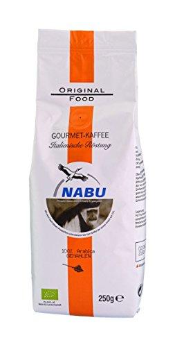 NABU Kaffee - Gourmet Kaffee Italienische Röstung gemahlen, 250 g