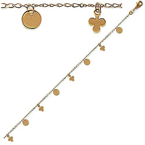 Les Trésors De Lily [B7894] - Gold vergoldet armband 'Pimprenelle' .