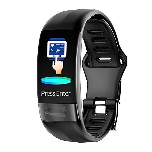 YAOUFBZ Die Neue intelligente Körpertemperaturuhr,Fitness-Tracker mit EKG + PPG-Überwachung Herzfrequenz Blutdruck Blutdruck Sauerstoff-Atemfrequenz-Überwachung,schwarz