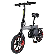 TOEU Electric Bike, Max Speed 20km/h, 14 inch Adult Bike, Urban Commuter Folding E-bike, Pedal Assis...