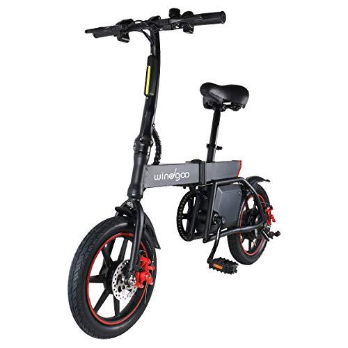 Bicicletta elettrica pieghevole, fino a 25 km h, velocità regolabile Urban Bike, autonomia 20 km, batteria 36 V 6,0 Ah, 350 W, per adulti, E-bike, colore: nero