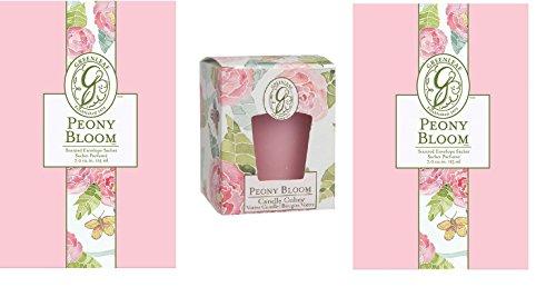 Lot de 3, 2?grandes Pivoine Bloom sachets parfum?s, 1?Pivoine Bloom parfum?e Bougie d?corative