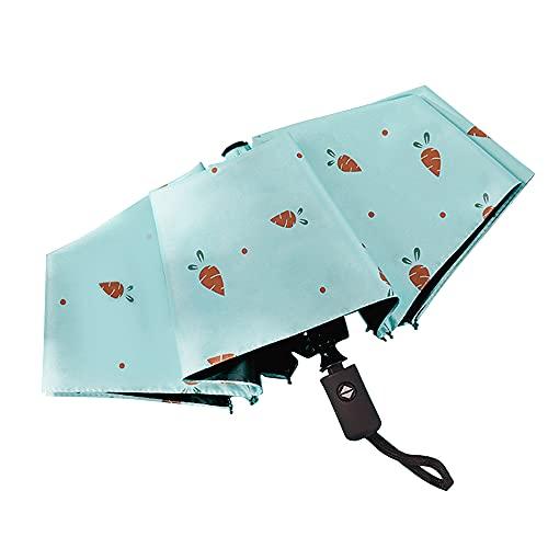 TOPmontain Mini paraguas, sombrilla de bolsillo, 8 costillas, ligera, compacta, plegable, resistente al viento, lluvia y sombrilla con marco reforzado para viajes, escuela, vida diaria