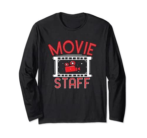 Movie Staff - Movie Night Film Fan - Observador de cine Manga Larga