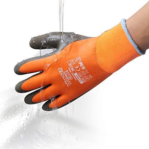 JKMQA Anti-Flüssigstickstoff-Schutzhandschuhe Frostschutzhandschuhe Kältespeicher Trockeneis warme Handschuhe, niedrige Temperaturbeständigkeit, Korrosionsschutz