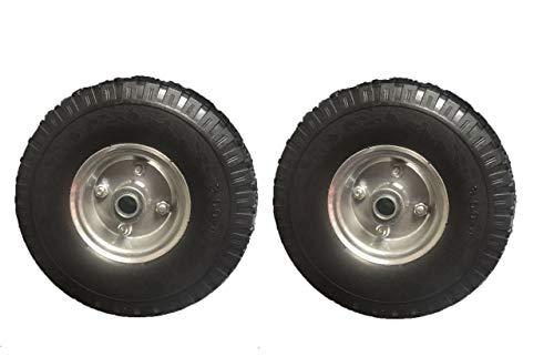 2 ruedas de carretilla 3.00 – 4/85 x 260 mm, rueda de repuesto para neumáticos, carretilla, rodamiento de bolas, carretilla, ruedas
