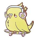 N-B Pin de Esmalte Duro pájaro de Dibujos Animados Lindo Broche de Medalla de Mago mágico joyería fanáticos de películas Regalos de decoración de Aniversario