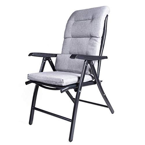 Zfggd Silla Plegable reclinable de Gravedad Cero, Tumbona reclinable con tumbonas y sillas de Playa de jardín Taburete Plegable a Prueba de Intemperie de Texto