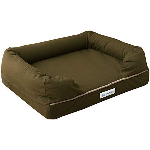 neDOGko(ねどっこ) 犬 ペット ベッド ペットベッド 犬用ベッド エアー素材 Mサイズ オリーブグリーン 小型犬 中型犬 洗える 耐噛み 丈夫 立ち上がりサポート シニア 介護