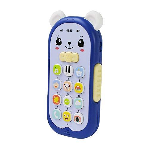 sharprepublic Juguetes de teléfono móvil con música Colorida para bebés, TV eléctrica, Control Remoto, números, Aprendizaje temprano, Juguete Educativo para niños - Azul